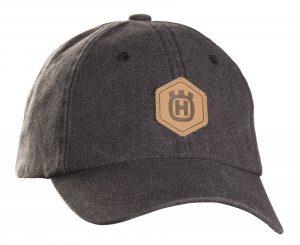 casquette HUSQVARNA logo cuir